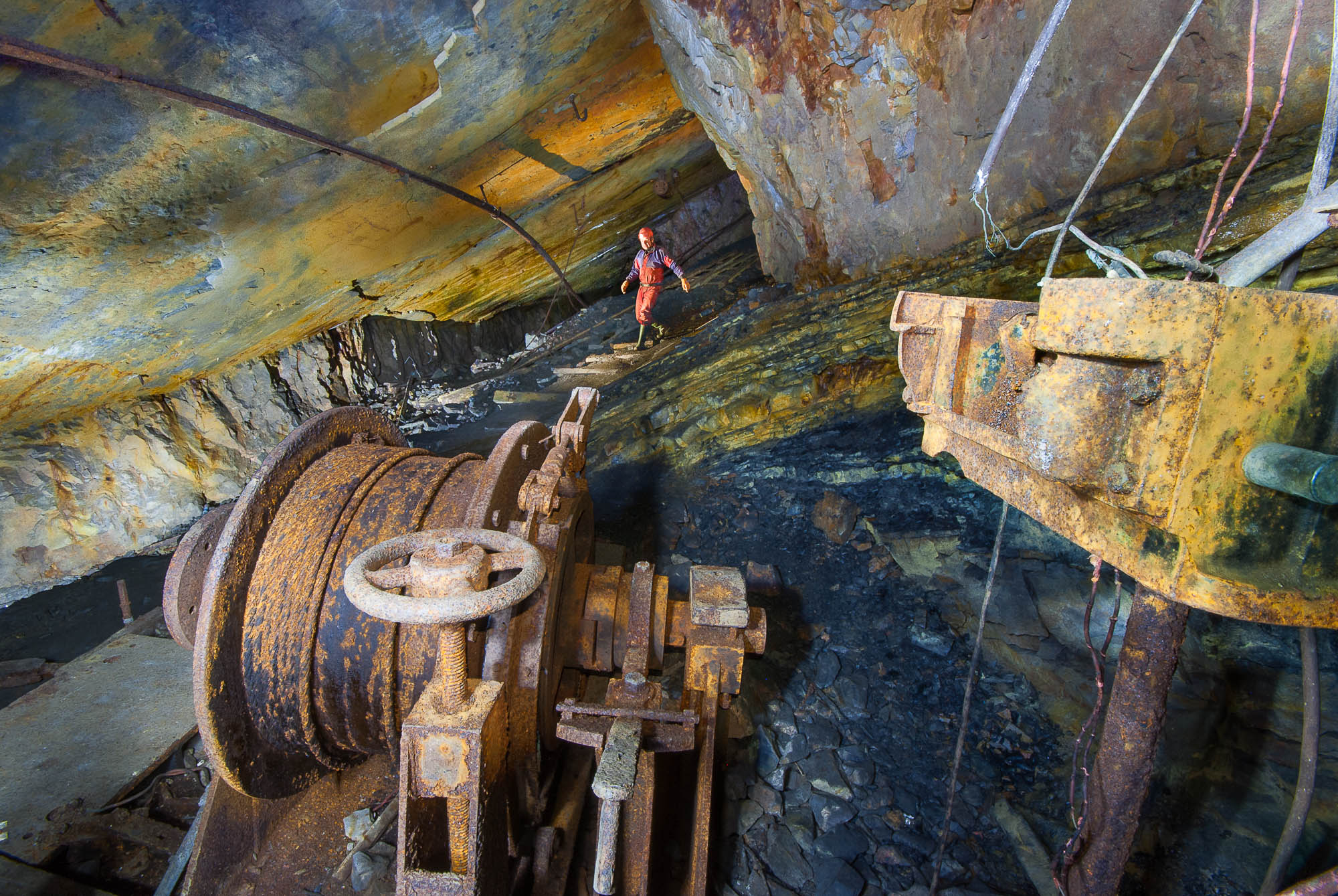 Explore caves and disused mines
