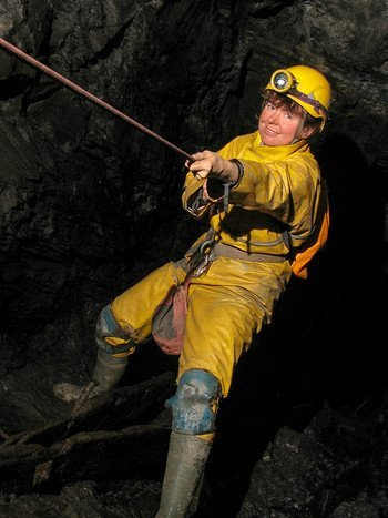 Photographer Annette Price caving