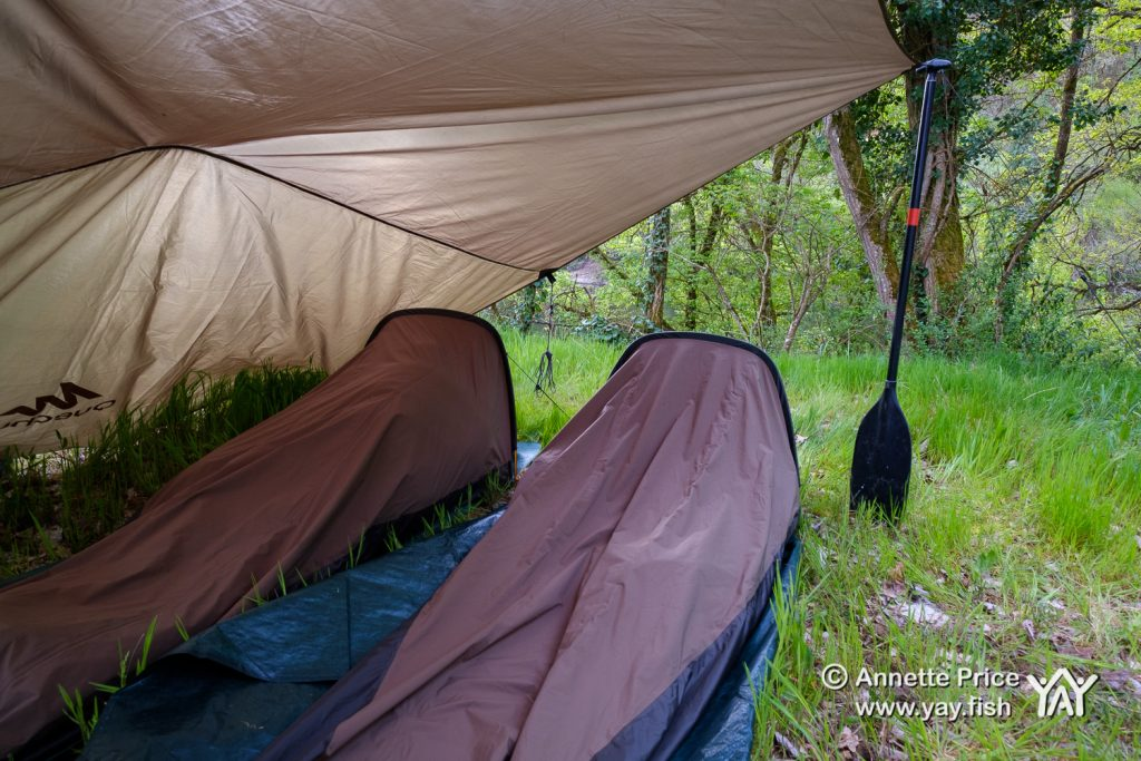 Wild camping along the banks of the River Dordogne, France.